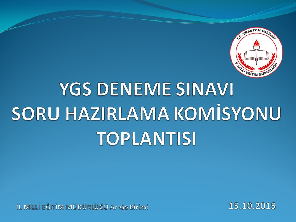 TARİH NOAD SOYADKURUMU 1Prof.Dr. İsmail Hakkı DEMİRCİOĞLUKTÜ FATİH EĞİTİM FAKÜLTESİ 2Doç.