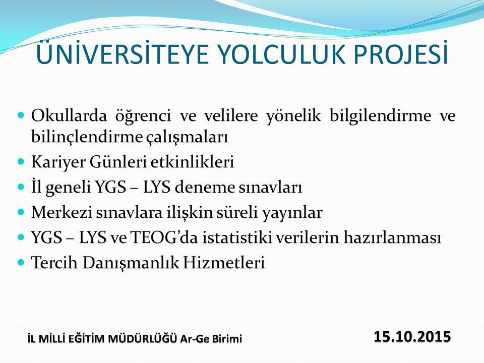 AMAÇ Üniversite Yolculuk Projesi kapsamında, Karadeniz Teknik Üniversitesi ile Milli Eğitim Müdürlüğümüz arasında imzalanan protokol gereğince ilimiz 12.sınıf öğrencilerine yönelik 17 Ocak 2016 Pazar günü yapılacak olan deneme sınavının sorularının hazırlanmasına yönelik soru hazırlama komisyonu oluşturulmuştur.
