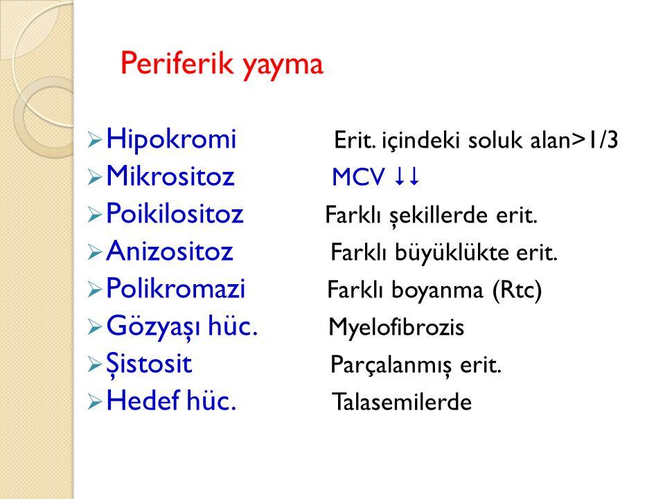Periferik yayma  Hipokromi Erit.