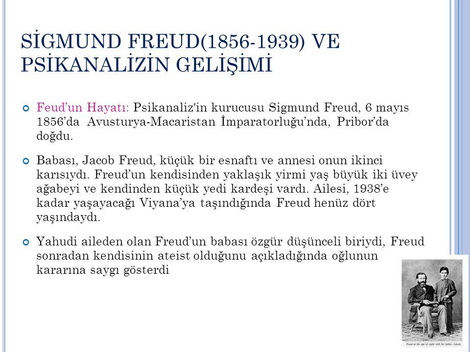 D EVAM … Freud da, bilimle ilgilendiği için, 1873'te Viyana Üniversitesi Tıp Fakültesine girdi.