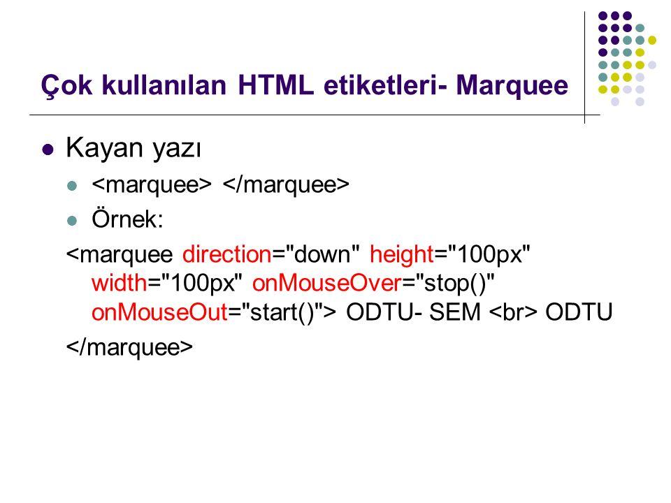Çok kullanılan HTML etiketleri- Ses Ses eklemek
