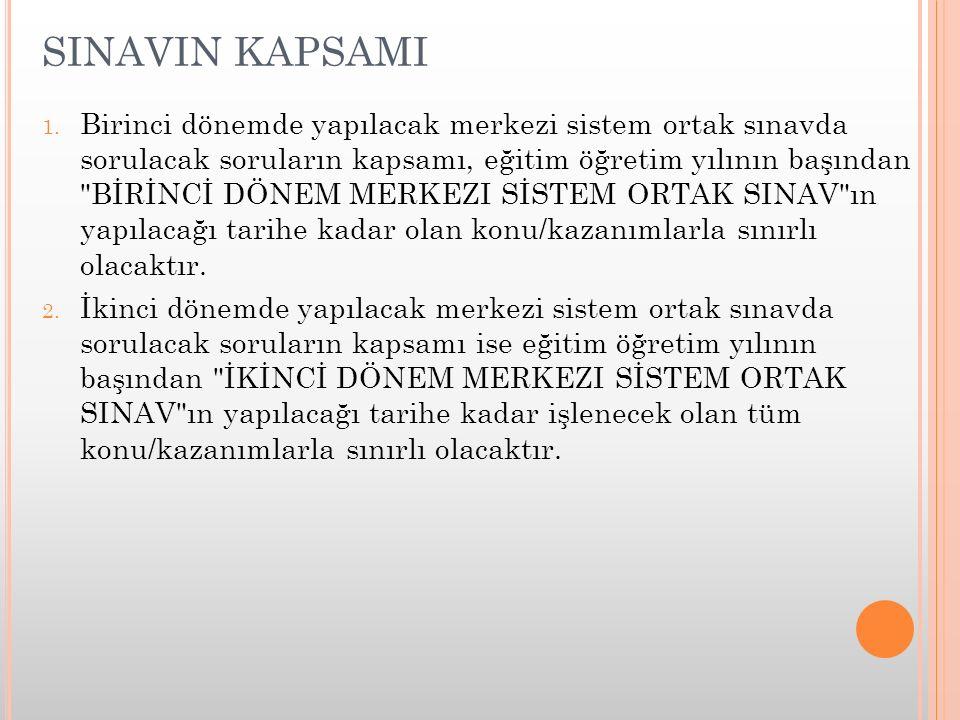 SINAVIN KAPSAMI 1.