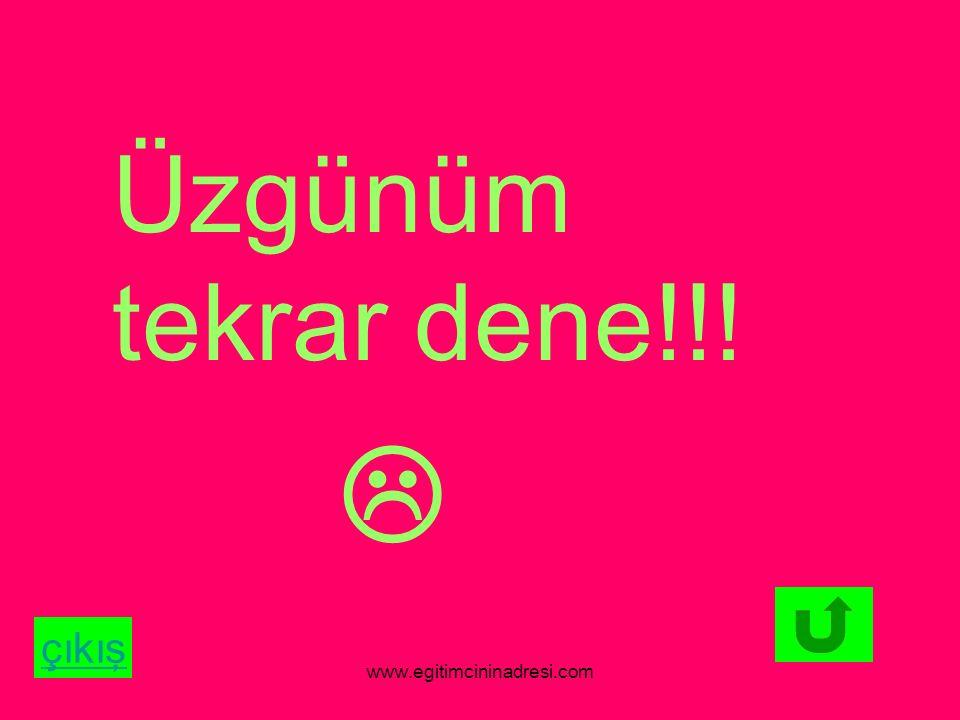 Üzgünüm tekrar dene!!!  çıkış www.egitimcininadresi.com