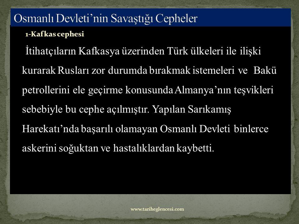 a-Yeni cepheler açarak yükünü hafifletmek istemesi b-Musul ve Kerkük petrollerinden faydalanma isteği c-Padişahın Halifelik sıfatından yararlanma isteği d-Rusya'ya Boğazlar yoluyla yapılacak yardımı önleme isteği www.tariheglencesi.com