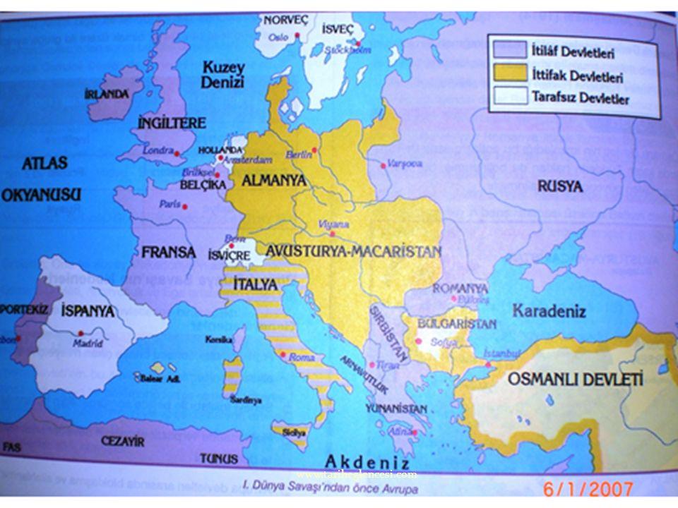 28 Haziran 1914'te Saraybosna' da Avusturya-Macaristan veliahdının bir Sırplı tarafından öldürülmesi üzerine Avusturya Sırbistan'a savaş ilanı etti. R