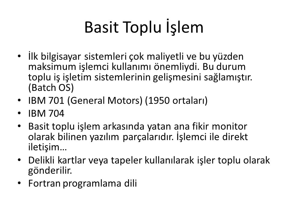 Sistem Çağrıları Tipleri Information maintenance – get time or date, set time or date – get system data, set system data – get and set process, file, or device attributes Communications – create, delete communication connection – send, receive messages if message passing model to host name or process name From client to server – Shared-memory model create and gain access to memory regions – transfer status information – attach and detach remote devices