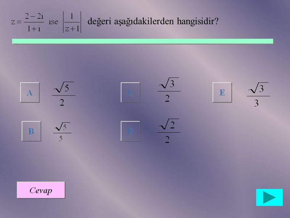 Karmaşık düzlemde, şekildeki çemberi aşağıdaki kümelerden hangisi belirtir? {z:|z-i|=1,z  C} {z:|z+i|=1,z  C} {z:|z-i|<1,z  C} {z:|z-i|=2,z  C} {z