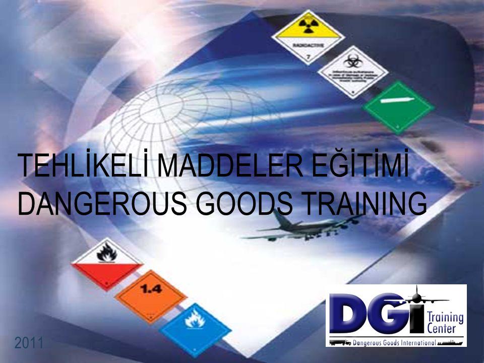 İÇERİK Tanım Amaç Önem Tehlikeli Maddelerin Havayolu ile Taşıma Gereklilikleri Sorumluluklar Tehlikeli Madde Limitleri Ülke ve Taşıyıcı Varyasyonları Tehlikeli Maddelerin Sınıflandırılması Tehlikeli Maddelerin Listesi Paketleme İşaretleme Etiketleme Overpack Radyoaktif Maddeler Yükleme Acil Durum (Emergency) Prosedürleri