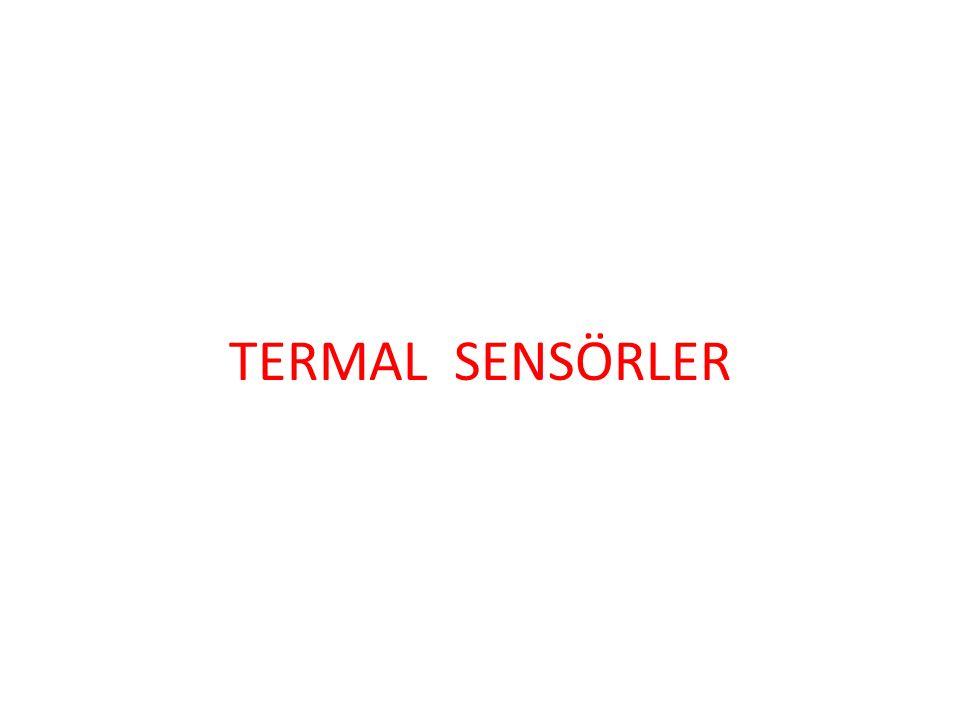 SICAKLIK VE ISI SENSÖRLERİ VE TRANSDÜSERLERİ Ortamdaki ısı değişimini algılamamıza yarayan cihazlara ısı veya sıcaklık sensörleri diyoruz.