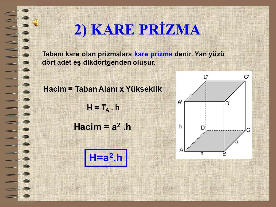 ÇÖZÜM: Hacim = a.b.c H = 3.4.12 H = 144 cm 3 A= 2.(ac + bc + ab) A=2.(3.4 + 3.12 + 4.12) A=2.(12+36+48) A=2.96 A=192 cm 2