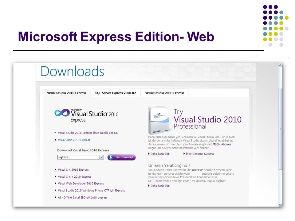 Microsoft Express Edition- Web
