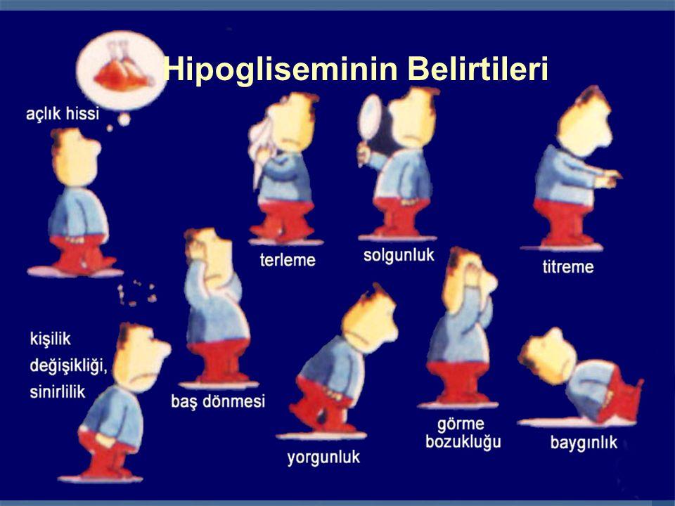ÇOCUKLUK ÇAĞI DİYABETİNİN (TİP 1) UZUN SÜRELİ TAKİBİ 58 Hipogliseminin Belirtileri