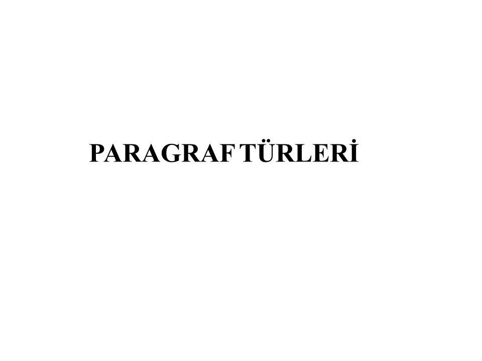 PARAGRAF TÜRLERİ