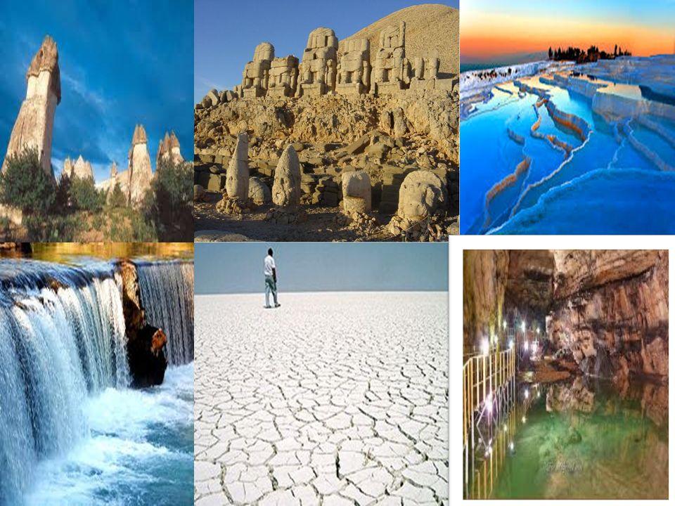  Peribacaları  Nemrut Dağı  Pamukkale Traventleri  Manavgat şelalesi  Tuz Gölü  Tızantepe Mağarası  VBBBBBB……………….