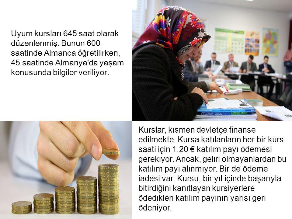 Almanya ya gelen Türkler için, statülerine göre değişik Almanca kursları var.
