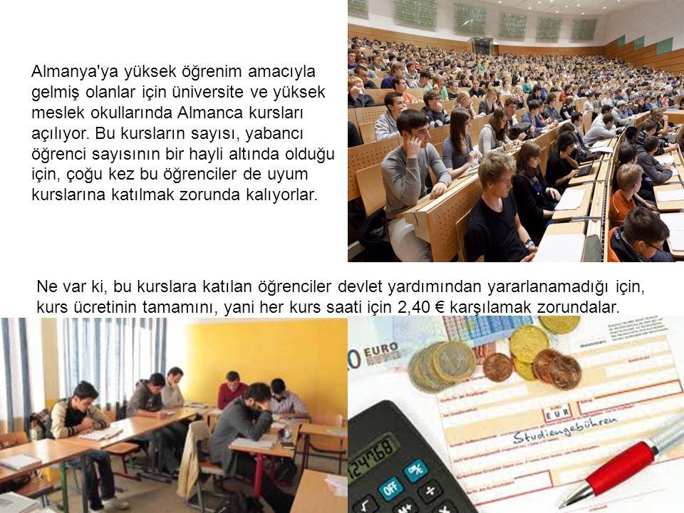 Kurs seçimi ve kurslarla ilgili her türlü formalitede eski adı Türk-danış olan uyum danışma büroları yardımcı oluyorlar.