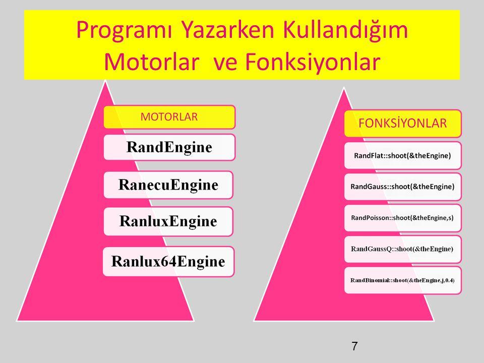 7 Programı Yazarken Kullandığım Motorlar ve Fonksiyonlar
