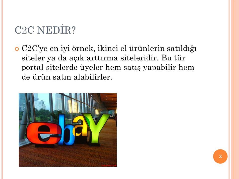 GİTTİGİDİYOR.COM 43 ülkede faaliyet gösteren, dünyanın en büyük online pazaryeri eBay in Türkiye iştiraki 6.8 milyon kayıtlı üye 500 binden fazla günlük ziyaretçi 2,7 milyonu aşkın anlık satış fırsatı Kurulduğu günden (2001) bu yana 4 bin farklı kategoride, 12 milyonun üzerinde satış gerçekleşmiştir.