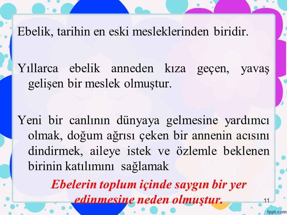 Ebelik, tarihin en eski mesleklerinden biridir.