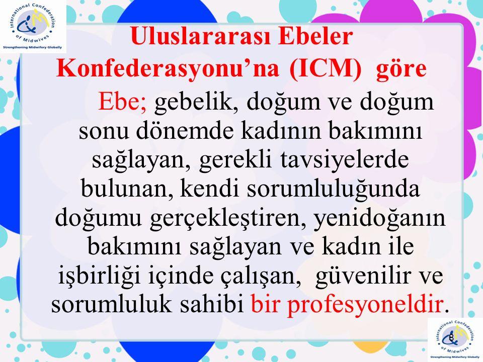 Türkiye'de hizmet eden 48 bin ebe bulunmakta, Sezaryen doğum oranlarının düşük olduğu gelişmiş ülkelerde ebelik sisteminin çok gelişmiş olduğunu, kadın, çocuk ve aile sağlığını korumak ve yükseltmeye yönelik çalışmalarda ebelerin etkin rol oynadığı görülmektedir, Ebeler, doğumun fizyolojik bir yaşam dönemi olduğuna inanır ve diğer görevlerinin yanı sıra kadınların daha insani koşullarda, müdahalesiz doğum yapmalarını sağlamak için çalışır.