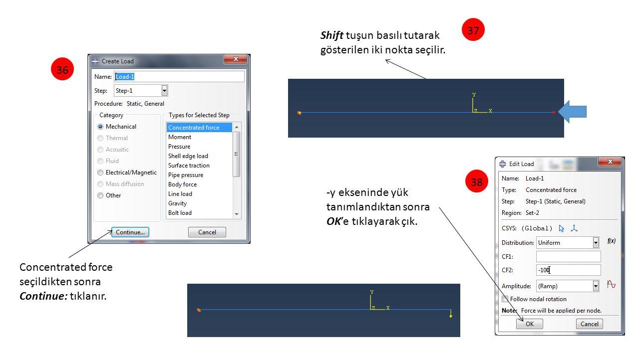 Shift tuşun basılı tutarak gösterilen iki nokta seçilir.