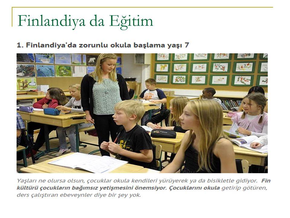Finlandiya da Eğitim