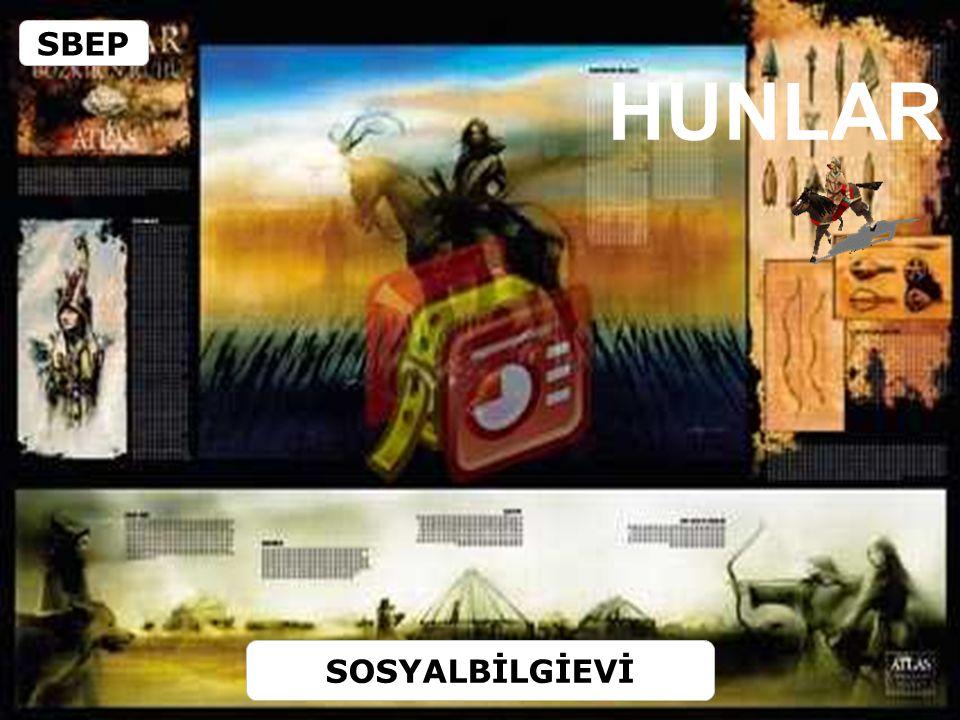 HUNLAR Türklerin (Hun Türkleri) ilerleyişi Slav ve Germen Kavimlerinin birbirlerini iterek yer değiştirmelerine neden olmuştur