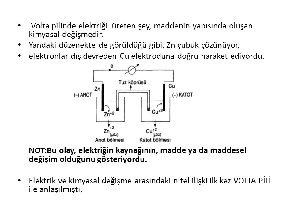 b) Faraday Deneyleri: Faraday, (1832-1833 yıllarında) elektriğin maddeyi değiştirmesi gerçeğinden yola çıkarak yaptığı elektroliz deneylerinde ; elektriğin oluşmasını sağlayan eksi yüklü parçacıkların başka maddelere aktarılmasıyla kimyasal değişmelerin gerçekleştiğini gözlemledi ve buna dayanarak atomun yapısında eksi yüklü parçacıkların varlığını ispatlayan ilk insan oldu.