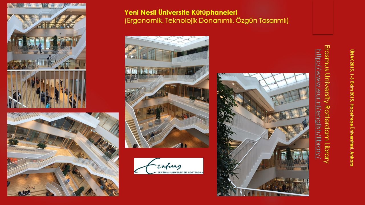 Erasmus University Rotterdam Library http://www.eur.nl/english/library/ ÜNAK 2015, 1-3 Ekim 2015, Hacettepe Üniversitesi, Ankara Yeni Nesil Üniversite