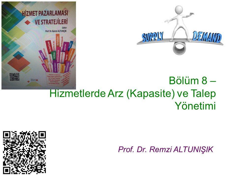 Bölüm 8 – Hizmetlerde Arz (Kapasite) ve Talep Yönetimi Prof. Dr. Remzi ALTUNIŞIK