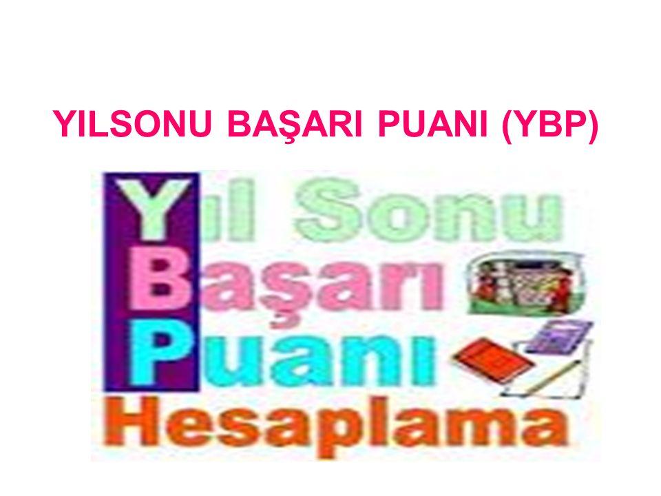 YILSONU BAŞARI PUANI (YBP)