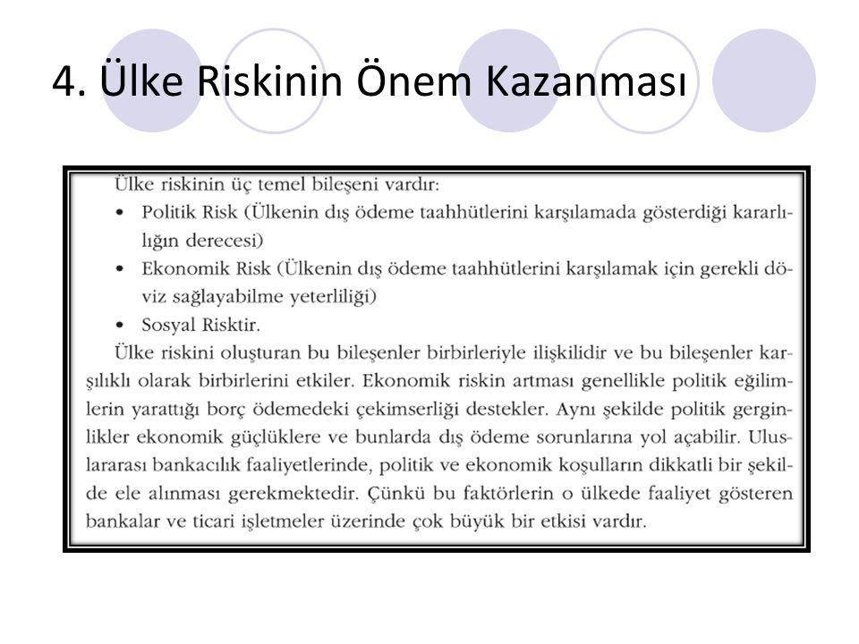 4. Ülke Riskinin Önem Kazanması