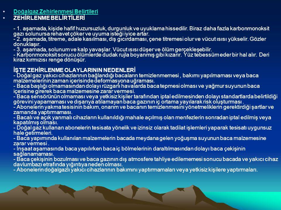 Doğalgaz Zehirlenmesi Belirtileri ZEHİRLENME BELİRTİLERİ - 1.