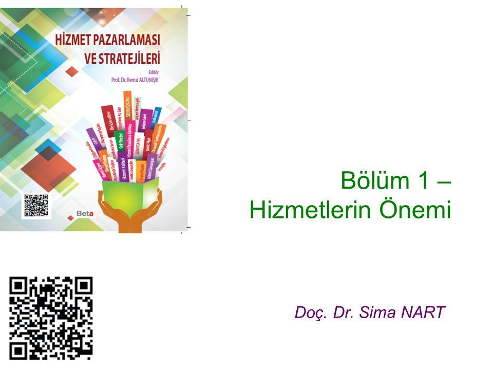 Bölüm 1 – Hizmetlerin Önemi Doç. Dr. Sima NART