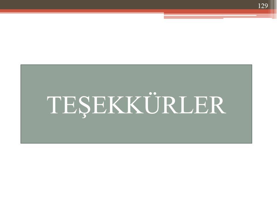 TEŞEKKÜRLER 129