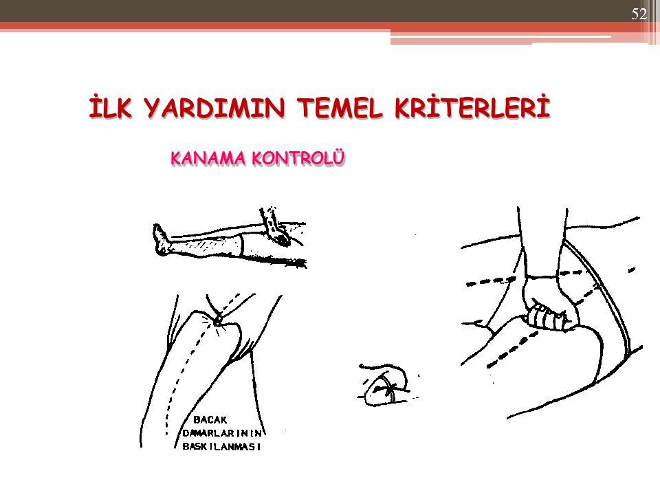 İLK YARDIMIN TEMEL KRİTERLERİ KANAMA KONTROLÜ 52