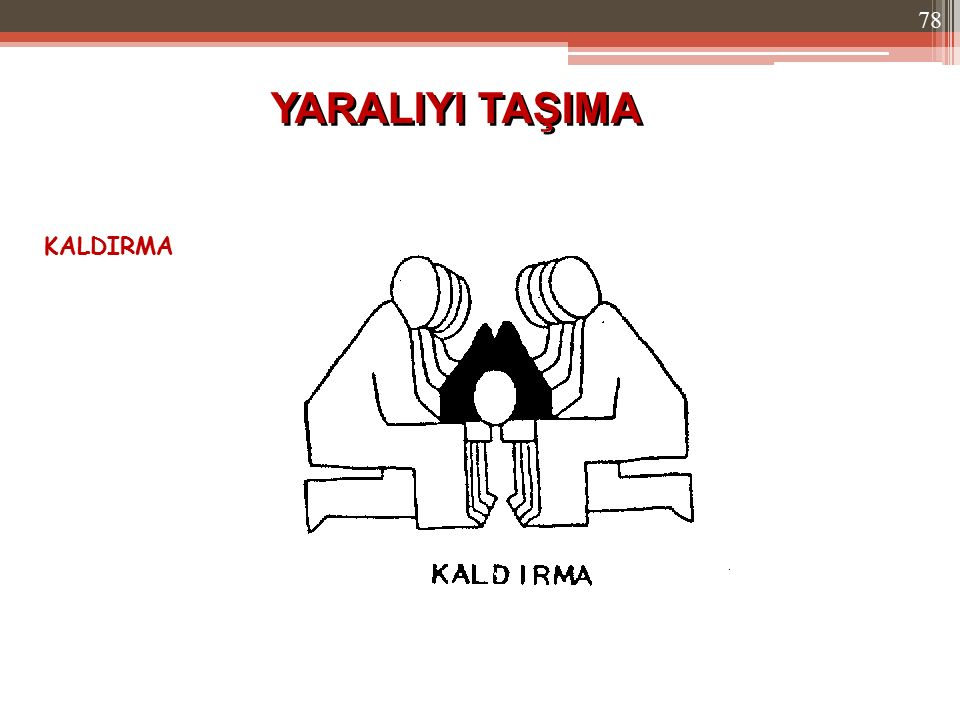 KALDIRMA YARALIYI TAŞIMA 78