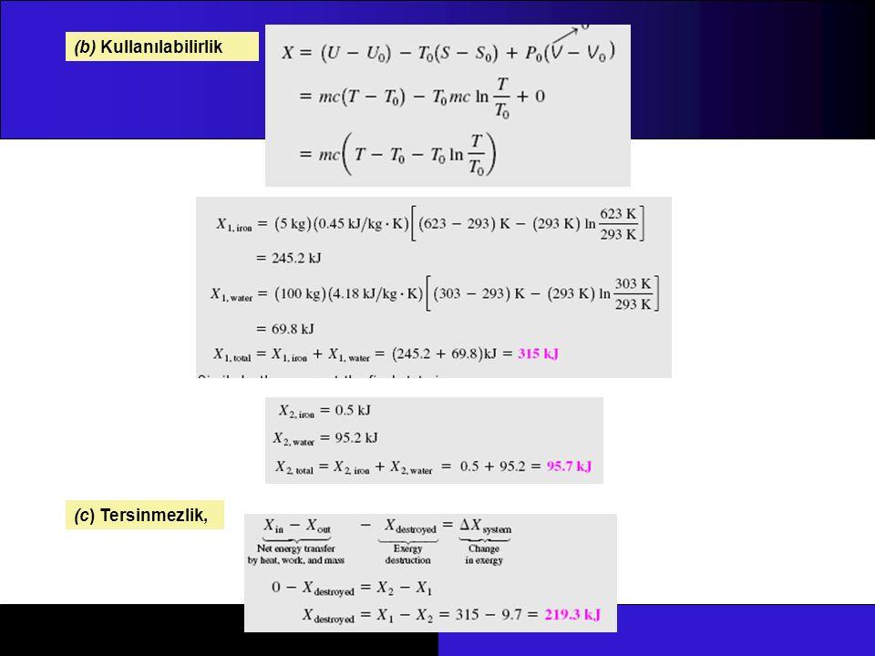 (b) Kullanılabilirlik (c) Tersinmezlik,