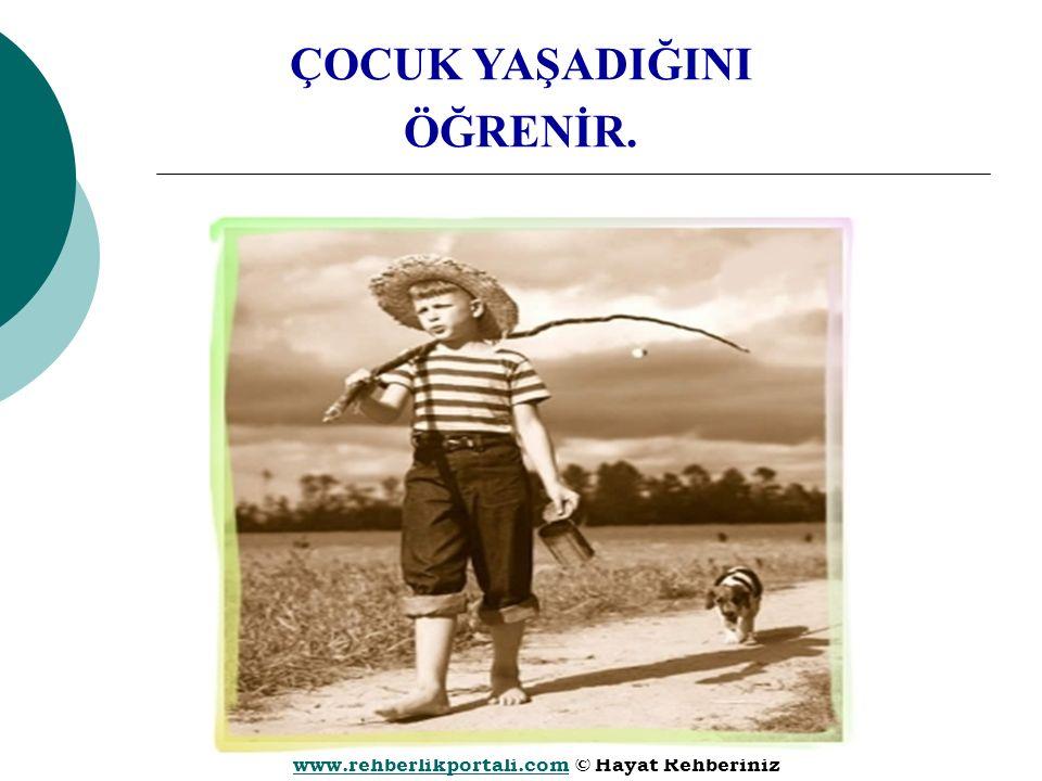 www.rehberlikportali.comwww.rehberlikportali.com © Hayat Rehberiniz ÇOCUK YAŞADIĞINI ÖĞRENİR.