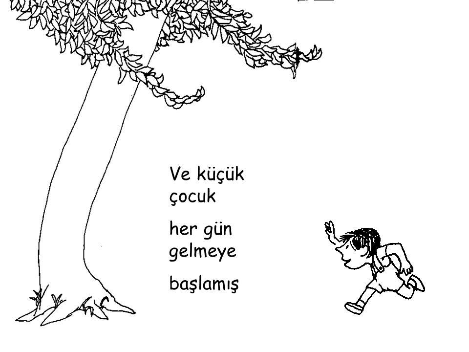Küçük çocuğa yapraklarını uzatmış sevgi ile… verebileceği ilk şeymiş...