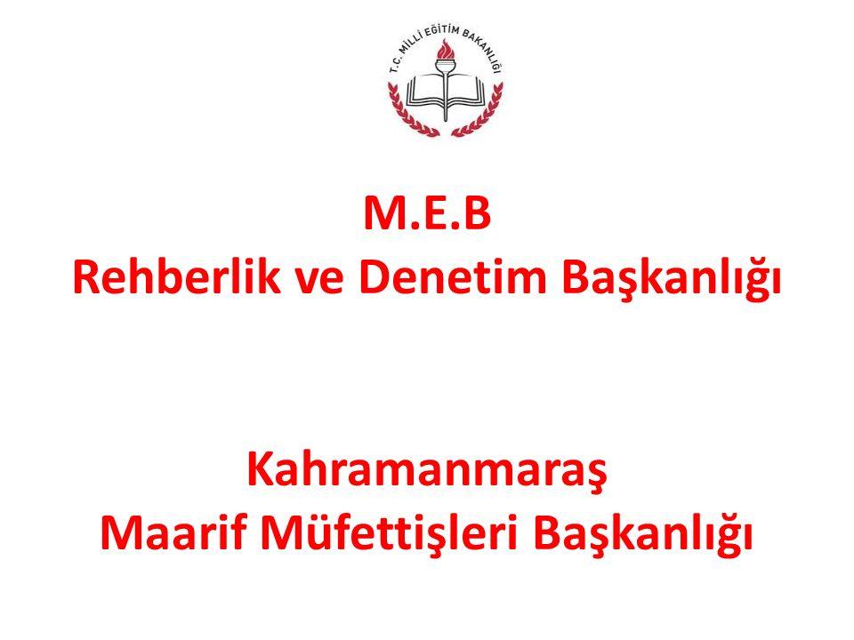 Okul Öncesi ve İlköğretim Kurumları Yönetmeliğinin, ve Ortaöğretim Kurumları Yönetmeliğinin hükümlerinin incelenmesi ve uygulanması.