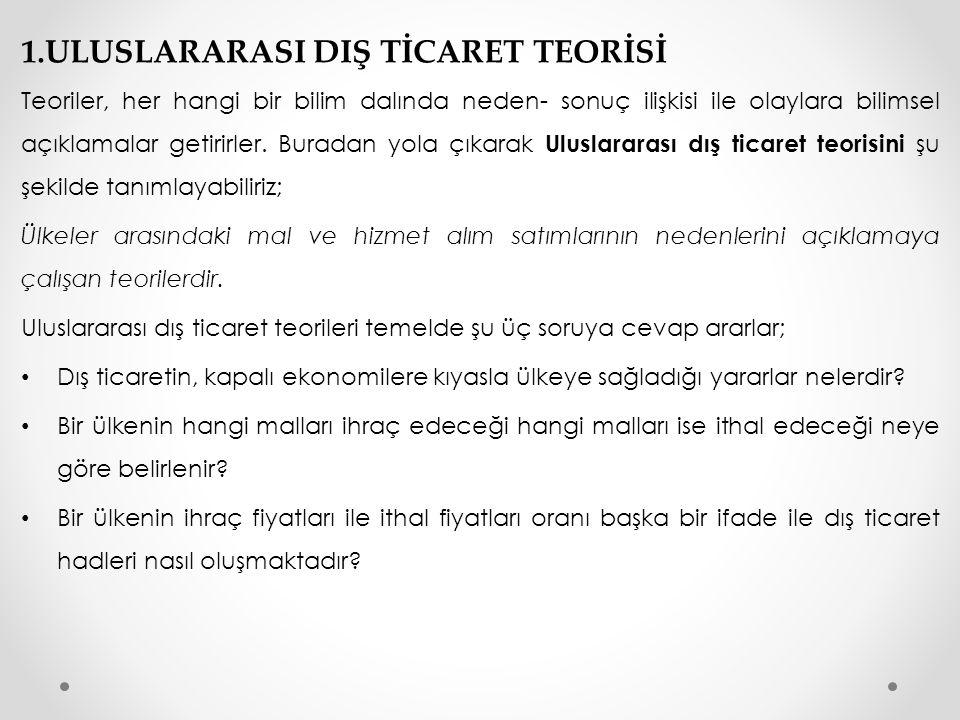 Türkiye tüm kaynaklarıyla 100 birim Sanayi(A noktası) yada 1000 birim tarım(B noktası) üretebiliyor.