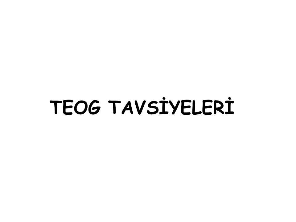 TEOG TAVSİYELERİ