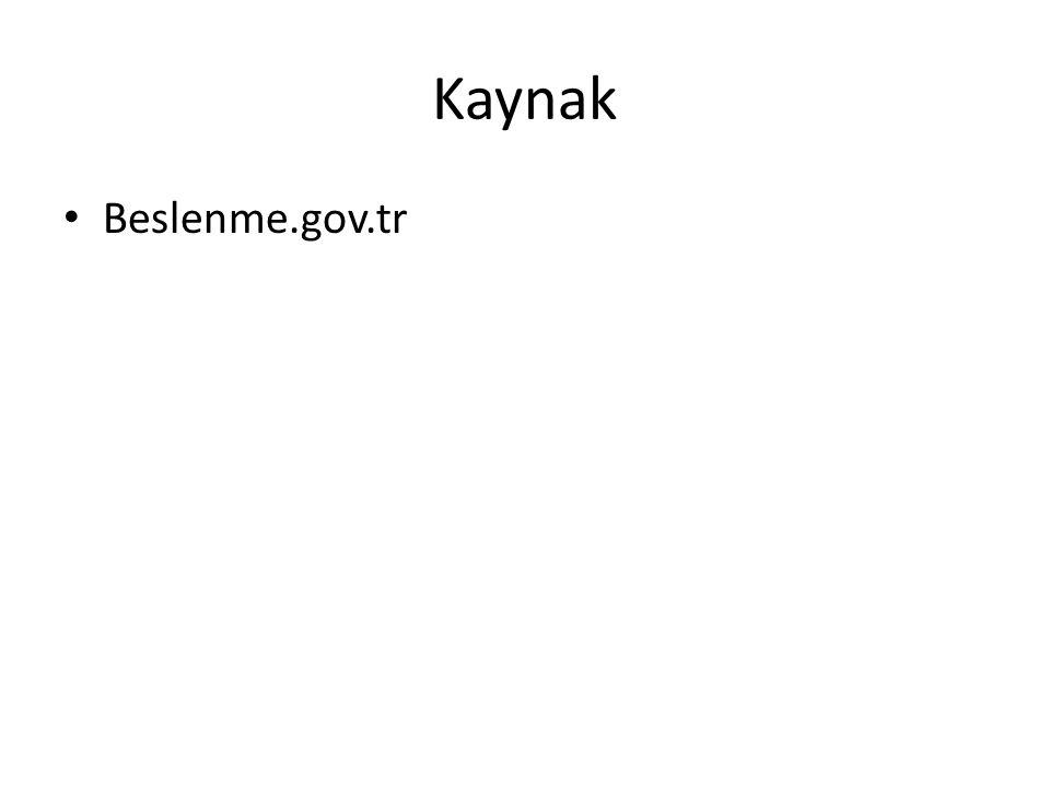 Kaynak Beslenme.gov.tr