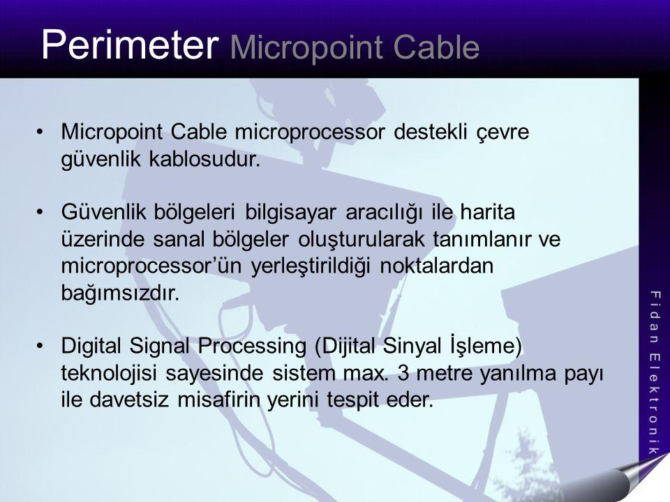 Perimeter Micropoint Cable Micropoint Cable microprocessor destekli çevre güvenlik kablosudur. Güvenlik bölgeleri bilgisayar aracılığı ile harita üzer