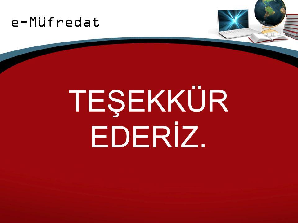 e-Müfredat TEŞEKKÜR EDERİZ.