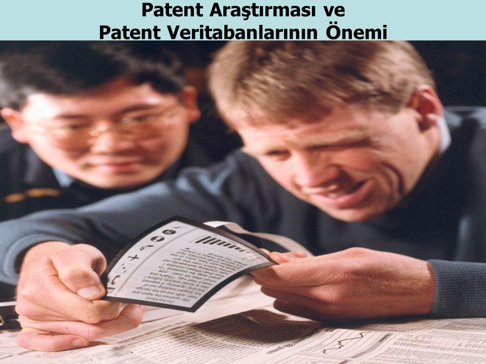 18.10.2015 1 Patent Araştırması ve Patent Veritabanlarının Ö nemi