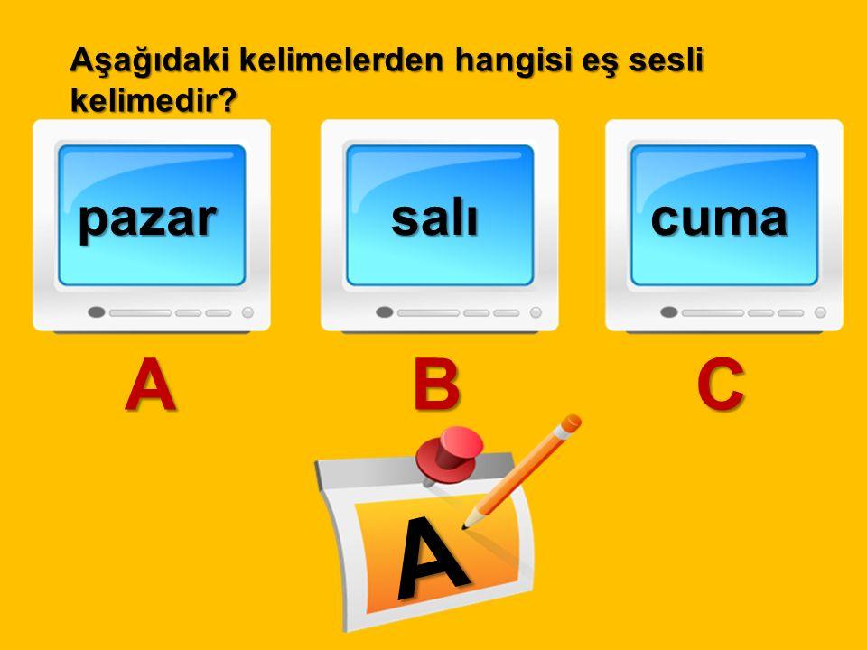 öğrenci A dolu B çocuk C B