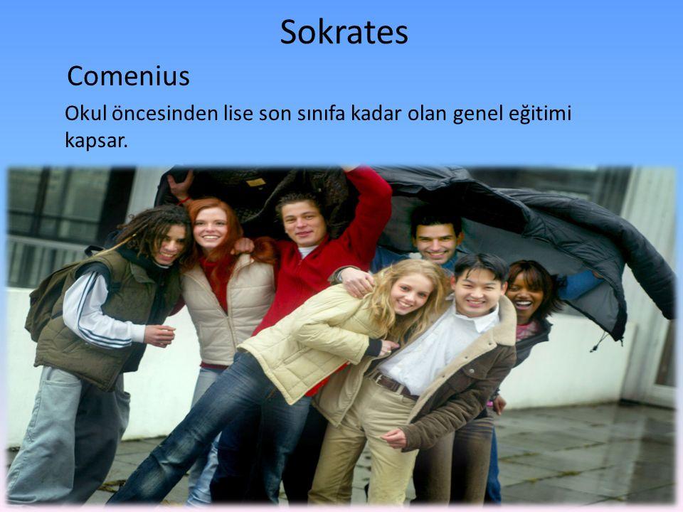 Sokrates Comenius Okul öncesinden lise son sınıfa kadar olan genel eğitimi kapsar.