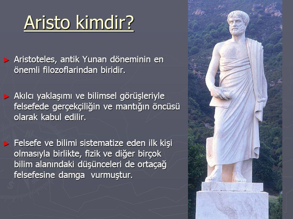 ARİSTO'nun ÇALIŞMALARi 5.Ve 6.